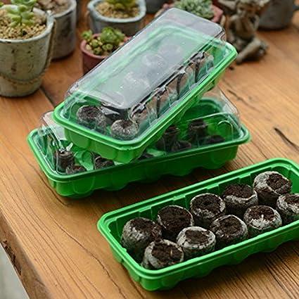 2* 10agarre jardín bandejas, con 20* 30mm Jiffy turba Pellets semillas Starter Kit, Kit de efecto invernadero planta Start, semillas jardín juego de herramientas
