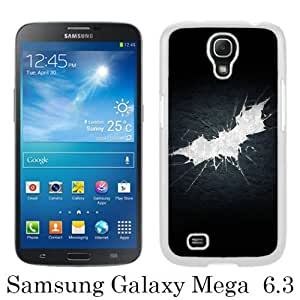 Samsung Galaxy Mega 6.3 I9205 Case ,Fashion And Unique Designed Samsung Galaxy Mega 6.3 I9205 Case With Batman Shattered Logo White Hight Quality Cover
