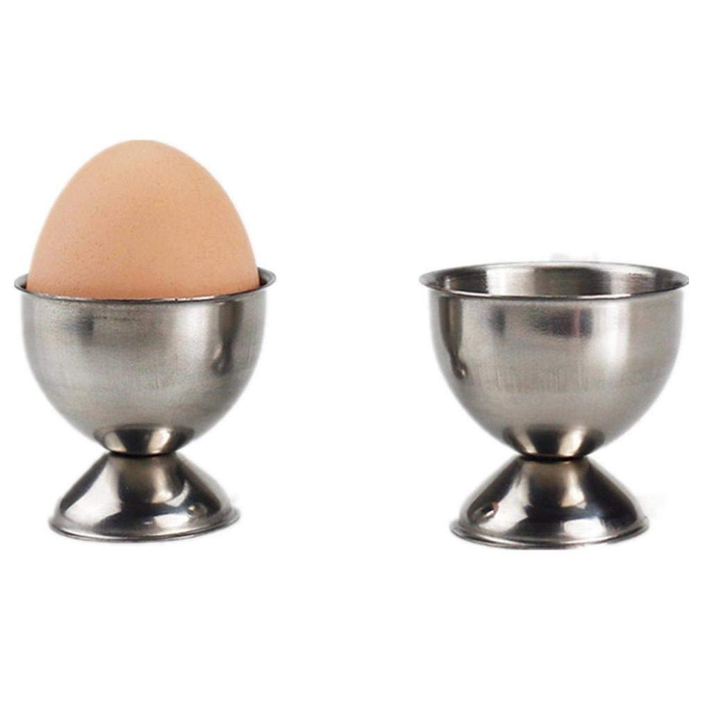 Coohole Stainless Steel Soft Boiled Egg Cups Egg Holder Tabletop Cup Kitchen Tool (Silver) by Coohole (Image #1)