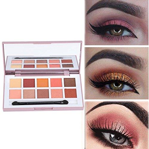 Fheaven (TM) Eye Makeup Palette - 1 Box 10 Color Geometric Eyeshadow Matte Pearlescent Nude Makeup Eyeshadow (B)