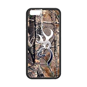 Becky Realtrees Real Tree Camo Design Browning Cutter Logo Hard Skin Case Cover for Phone iPhone 6 4.7