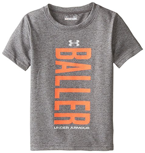 Under Armour Little Boys' Stitches Loose Fit, Carbon Heather, 2T
