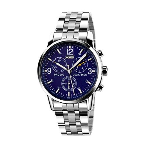 Ularmo Men Boy Stainless Steel Band Analog Quartz Sport Wrist Watch