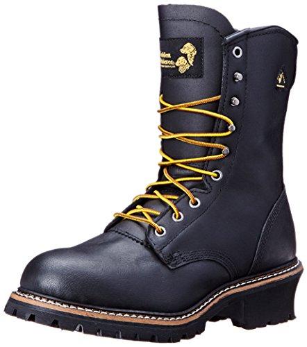 Golden Retriever Mens 9217 Safety Toe Waterproof Logger Black