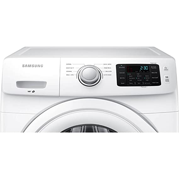 Samsung WF42H5000AW Energy Star 4 2 Cu  Ft  Front-Load Washer with Smart  Care, White