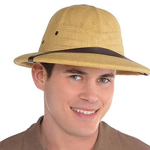 AMSCAN Straw Hat Halloween Costume Accessories, One Size]()