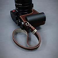 LIMS Genuine Leather Camera Wrist Strap WS-RF1BR(Brown) for Mirrorless RF D-SLR