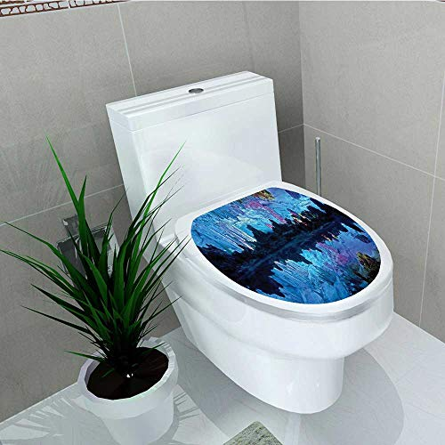 Printsonne Vinyl Decal Illuminated Reed Flute Cistern Artifical Lights Crystal Palace MYS Decoration Bathroom Toilet W13 x L18 ()