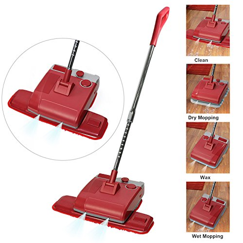 Cordless Floor Cleaner, EVERTOP Electric Wax Polisher Dry Wet Mop for Hardwood Floor, Tile, Marble, Granite - Flash Flooring Tile