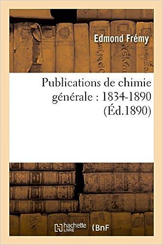 En ligne téléchargement Publications de chimie générale : 1834-1890 pdf ebook