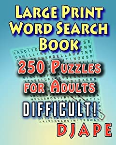 Large Print Word Search Book: 250 Puzzles for Adults (Volume 1)