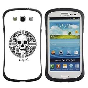 Suave TPU GEL Carcasa Funda Silicona Blando Estuche Caso de protección (para) Samsung Galaxy S3 I9300 / CECELL Phone case / / Skull Viking White Black Death Time /