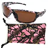 VertX Womens Pink Polarized Camouflage Sunglasses Sport Fishing Hunting w/ Free Microfiber Pouch