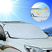 Cosyzone Windshield Sunshade Car Sun Shade Visor Shield Cover UV Protector Windproof with 3 Magnets for Four Season Fits Most Car Minivan SUV