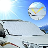 Automotive : Cosyzone Windshield Sunshade Car Sun Shade Visor Shield Cover UV Protector Windproof with 3 Magnets for Four Season Fits Most Car Minivan SUV