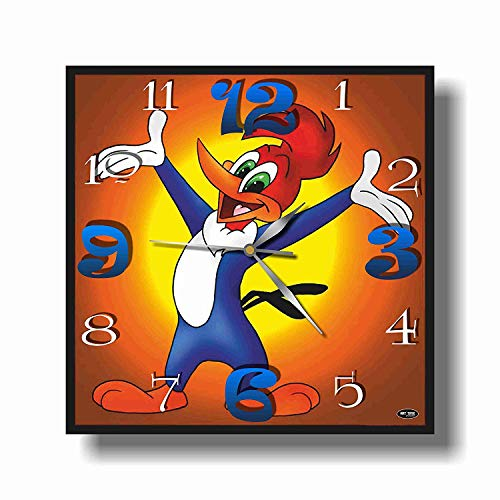 Art time production FBA Woody Woodpecker 11.8'' Handmade Unique Wall Clock - Get Unique décor for Home or Office – Best Gift Ideas for Kids, Friends, Parents