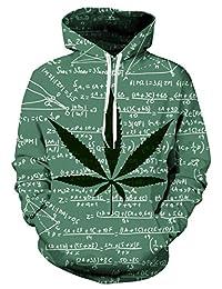 Raisevern Unisex 3d Printed Drawstring Pockets Hoodie Sweatshirts Plus Velvet