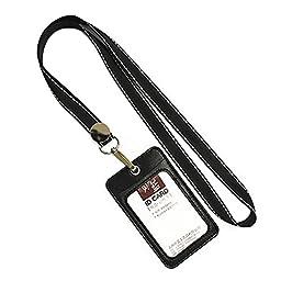 Unisex ID Card Holder Credit Card Case 2 PCS, Black