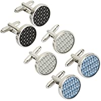 BodyJ4You 6PCS Cufflinks for Button Shirt Men Stylish Modern Men's Cuff Links Elegant Set