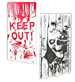 Tools & Hardware : Scary Halloween Decorations Halloween Ghost Skull and Bloody Handprint Wall Decals Posters Stickers for Walls Doors Windows 2Pcs