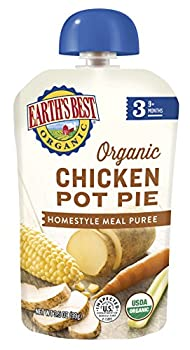 Earth's Best Organic Stage 3 Baby Food, Chicken Pot Pie Dinner, Non Gmo Ingredients, 4 Grams Of Protein, 3.5 Oz Resealable Pouch (Pack Of 6) 5