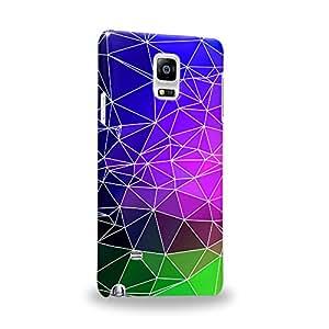 Case88 Premium Designs Art Geometric Mauve with Cobalt green Kaleidoscope Carcasa/Funda dura para el Samsung Galaxy Note 4