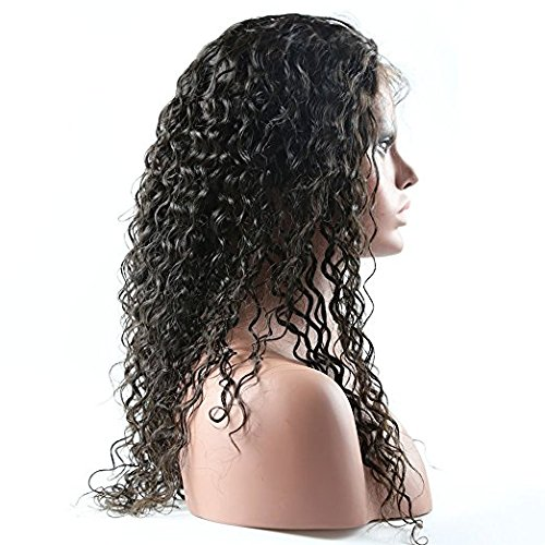 Doubleleafwig Curly Human Hair Lace Front Wigs 130% Density Brazilian Virgin Loose Deep Curly Wig with Baby Hair for Black Women (16 Inch, Full Lace wig) by Doubleleafwig (Image #2)