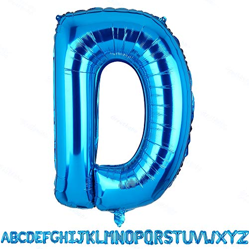 40 Inch Jumbo Blue Alphabet Mylar Foil Helium Letter Balloons Single Bridal Shower Anniversary Celebration Graduation Single Birthday Party Decorations