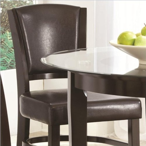 Coaster Home Furnishings 103689BRN Casual Counter Height Chair (Set of 2), Espresso/Brown