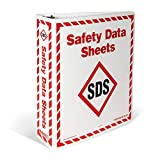 INCOM Manufacturing: GHS1008 WHMIS 2015 Safety Data Sheets (SDS) Storage Binders, 1.5 Inch Wide, A - Z Divders, Red and White