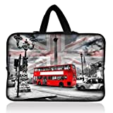 "11.6"" Neoprene Soft Chromebook Carrying bag Laptop Sleeve Case for Macbook Pro Air 11/Samsung 11.6"" Chromebook/Acer ChromeBook/Dell Chromebook 11/ASUS Chromebook C200MA/HP Chromebook 11 - London Bus"