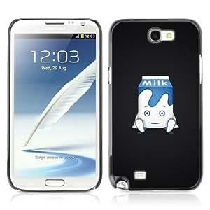 YOYOSHOP [Cute Milk Carton Illustration] Samsung Galaxy Note 2 Case