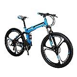 Image of Folding Bike 26 Inches Mag Wheel Dual Suspension Mountain Bike 21 Speed Shimano Gears