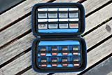 Game Card Storage Holder Hard Case for New Nintendo 3DS, 2DS XL, DS and Nintendo Switch or PS Vita - Black/Blue