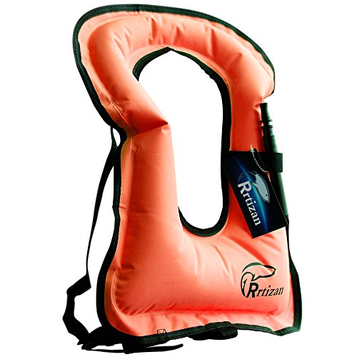 Rrtizan Adult Inflatable Snorkel Vest Portable Life Jacket For Swimming Safety ()