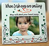Irish Photo Frame Celtic Picture Frame - When Irish Eyes are Smiling - Ceramic - 8''W