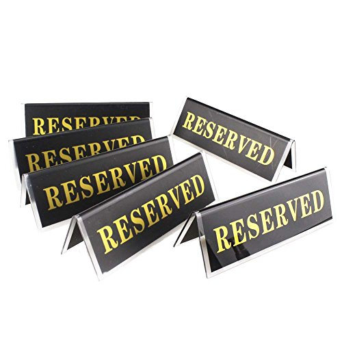 Airgoesin 6pcs Acrylic Reserved Table Seat Sign Double