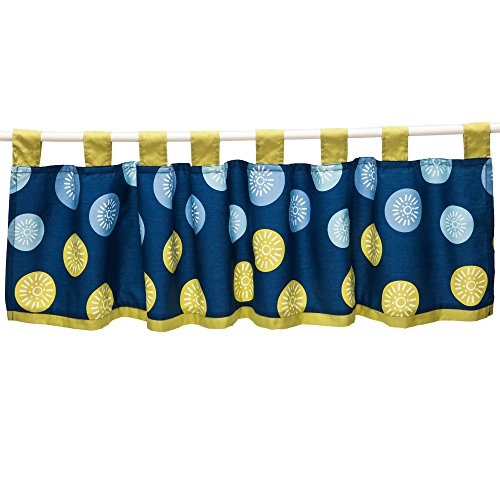 Space Bot Window Valance by True Baby (Dot Valance Circle)