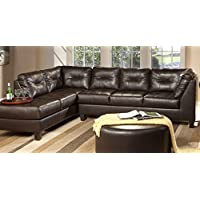 Serta Upholstery 2500RFS 2500RFS06 Right Side Facing Sofa in Sanmar, Chocolate