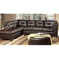 Serta Upholstery 2500RFS 2500RFS06 Right Side Facing Sofa in Sanmar, Chocolate