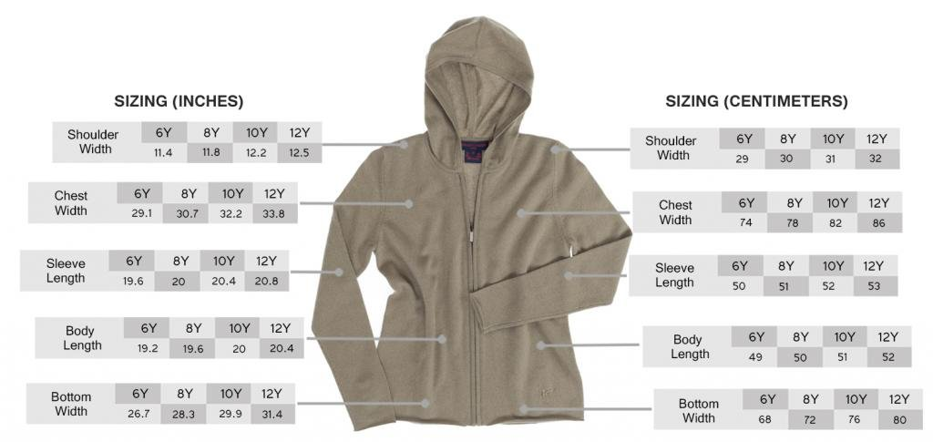 Boy's Khaki Hoodie - 100% Cashmere - Citizen Cashmere (12 102-12-C6), Age 6