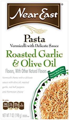 Near East Roasted Garlic & Olive Oil Vermicelli Pasta Mix (Pack of 12 Boxes) (Organic Rice Vermicelli compare prices)