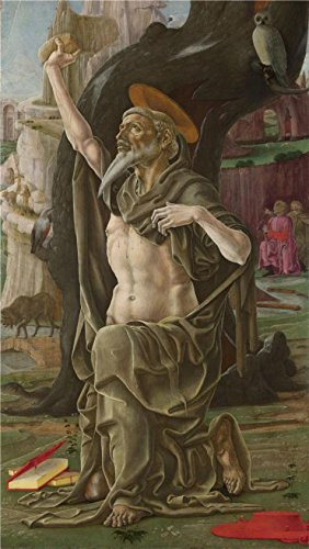 Twin Tower Costume England (The Perfect Effect Canvas Of Oil Painting 'Cosimo Tura-Saint Jerome,probably About 1470' ,size: 18x32 Inch / 46x81 Cm ,this High Quality Art Decorative Canvas Prints Is Fit For Study Decoration And Home Decor And Gifts)