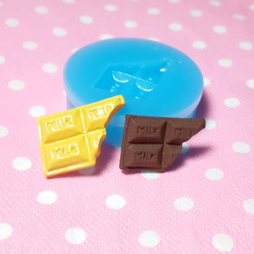 002LBK Kawaii Cute Small Bited Chocolate Fondant Silicone Mold for Cake Cookie Decorating Chocolate Soap Epoxy Clay Fimo Clay