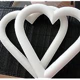 Styrofoam Heart Wreath 9 inches