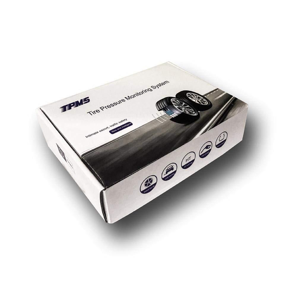 Sistema di monitoraggio della Pressione con 2 Sensore Esterno Impermeabile Dispositivo di monitoraggio Wireless per Rilevamento Pneumatici Universale per Moto Esterno Solare