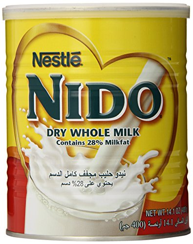 Nestle Nido Milk Powder, Imported, (400 gm), 14.1-Ounce Cans (Pack of 3) (Nestle Milk Dry)