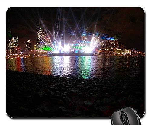 Mouse Pads - Laser Show Laser Brisbane City Lights Night 1