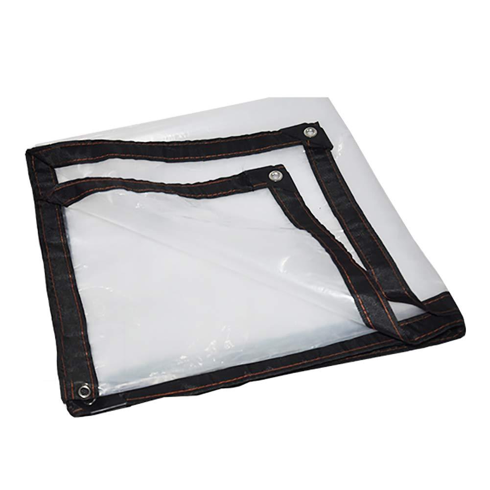 5×8M JUEJIDP Bordure épaississante Transparente perforée Feuille de Plastique imperméable Feuille de Balcon Film de Serre Culture Fleur Tente