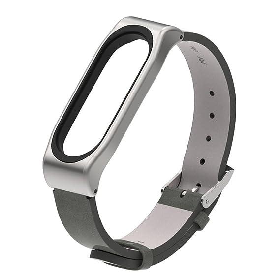 Modaworld _Correa de reloj Pulsera Xiaomi Mi Band 3 Pulsera de Repuesto Banda de reemplazo Correas Hebilla de Metal para XiaoMi Mi Band 3 Reloj Inteligente ...
